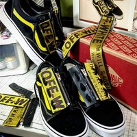 Off-White x Vans Ribbon Zipper Limited edition Shoes 35-44