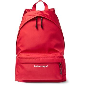 Red Classic Ripstop Backpack by Balenciaga