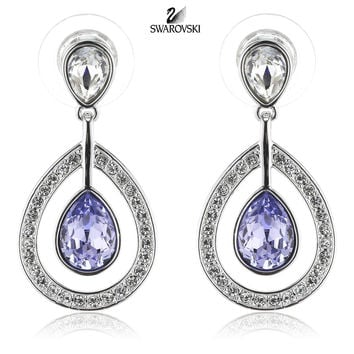 Swarovski Purple Crystal Pierced Earrings MILA Lavender #1126761