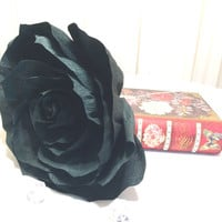 Giant Black Paper Rose, Crepe paper Rose, Giant bouquet flower, Red crepe paper Rose, Fake flowers, Baby shower decor, Big Bouquet flowers