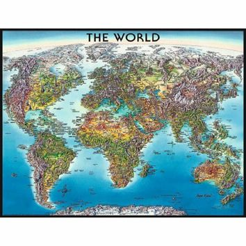 World Map Puzzle, 2,000 Pieces