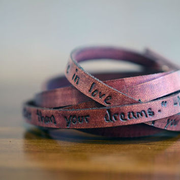 Reality is Better Than Your Dreams - Dr. Seuss - Ultra Long Leather Wrap Bracelet