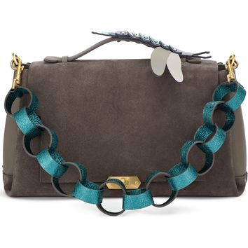 Anya Hindmarch Bathurst Dragonfly Detail Leather & Suede Satchel | Nordstrom