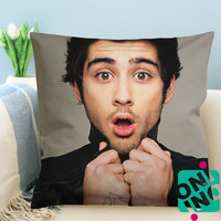 Zayn Malik Funny Face Zippered Pillow Case, Cushion Case, Pillow case