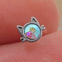 Kitty Cat Nose Bone Nose Stud
