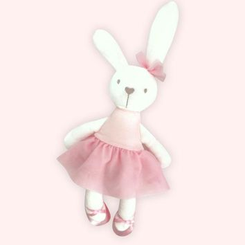 Pudcoco Cute 42cm Large Soft Stuffed Animal Bunny Rabbit Toy Baby Kid Girl Easter Gift for baby girls