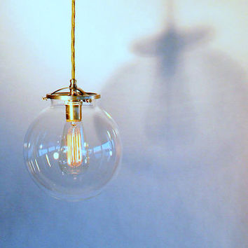 Clear Globe Pendant Light  8 Globe Modern by TheiaLuminaires
