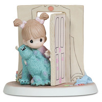 ''Everything Is Less Scary with a Friend'' Disney Girl with Sulley Figurine by Precious Moments   Disney Store