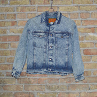 Calvin Klein Acid Washed Denim Jacket - M