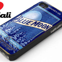 BlueMoonCan beer iPhone 4/4s, 5, 5s, 5c, Samsung S2, S3, S4, iPod 4, 5