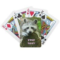 cute raccoon playingcards from Zazzle.com