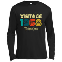 Vintage 1968 Funny Old School 50th Retro Gift  Long Sleeve Moisture Absorbing Shirt