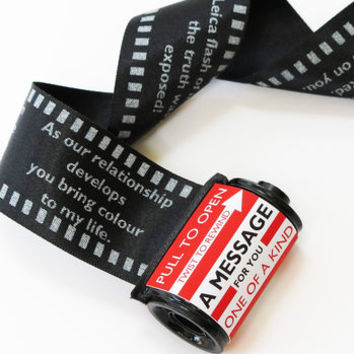 love message in a 35mm film reel by little white dog | notonthehighstreet.com