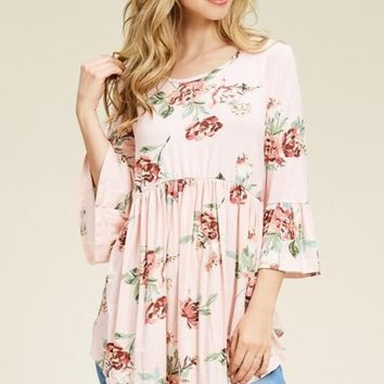 Shades of Summer Babydoll Tunic in Blush