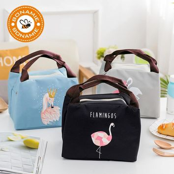 621125759d0e BONAMIE Hot Animal Flamingo Lunch Bag Girl Portable Insulated Th
