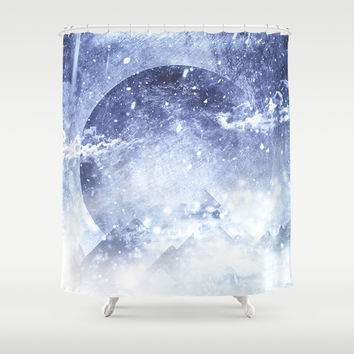 Even mountains get cold Shower Curtain by HappyMelvin