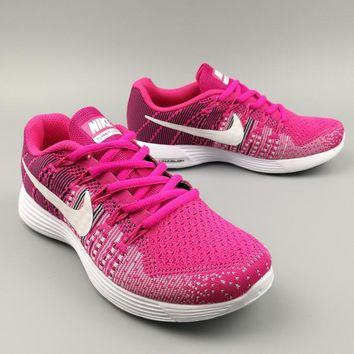 NIKE AIR ZOOM PEGASUS Sports Knitted jumper wire shoes fashion shoes rose red H-MDTY-S