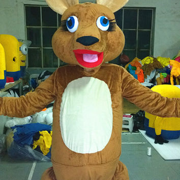 Kangaroo Animal Mascot Costumes,Cosplay Costumes,Adults Costumes, Clothing,Halloween Costume,Party Mascot,Christmas Mascot Costume,Cosplay