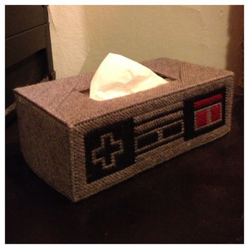 Nintendo Nes Controller Tissue Box Mario by K8BitHero on Etsy