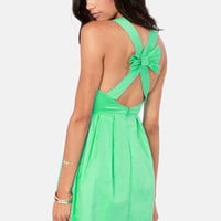Bow-l a Strike Mint Green Dress