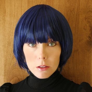 SPRING SALE //Blue wig with black // Short by TiffanyDeMichele