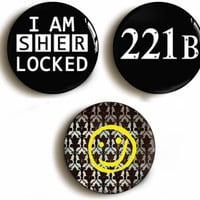 Sherlock Holmes pin back button badge