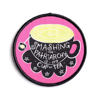 Cup of Tea Iron-On Patch