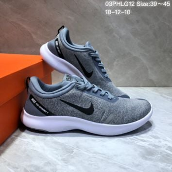 DCCK N706 NIKE FLEX EXPERIENCE RN Sports Casual Running Shoes Grey black