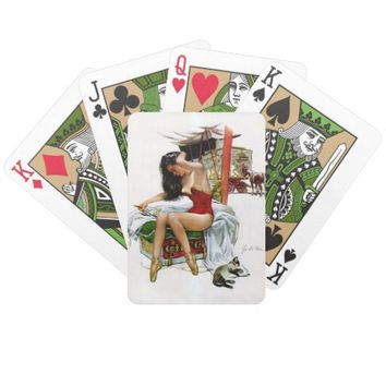 Circus Beauty Vintage Pin-Up Playing Cards