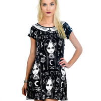 Goth Emo Lolita Dark Magic & Wednesday Addams Little Black Dress