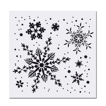 Snowflake  Background Merry Christmas Deco Scrapbook DIY Photo Cards Rubber Stamp Clear Stamp Transparent Stamp 15x15cm