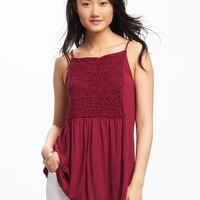 Relaxed Embroidered Cami for Women | Old Navy