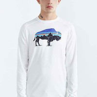 Patagonia Fitz Roy Bison Long-Sleeve Tee- White