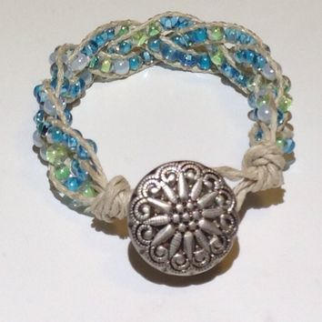 Handmade Bracelet With Hemp in Miami colors
