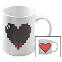 Kikkerland Pixel Heart Morph Mug White One Size For Men 19845415001