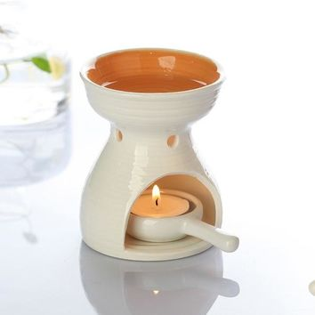 Dia 8.5 * Height 11cm Ceramic  Oil Burner for Essential Oil  with candle holder