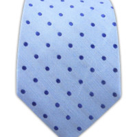 Dotted Dots - Sky Blue (Linen) | Ties, Bow Ties, and Pocket Squares | The Tie Bar