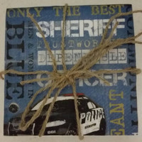 Police Inspired Waterproof Tile Coaster