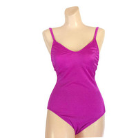 Vintage One Piece Swimsuit Fuschia Bathing Suit Women Swim Suit Women Swimsuit Bathers Swimmers Maillot Swimming Suit Ladies Swimwear