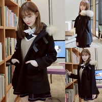 Korean fashion college hooded jacket