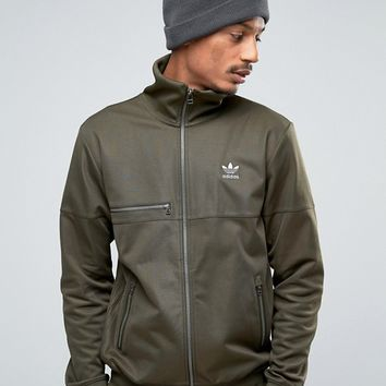 adidas Originals Fallen Future Sweat In Khaki BQ4468 at asos.com