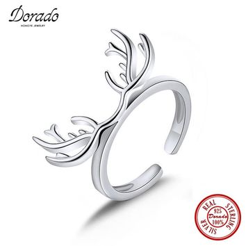 925 Sterling Silver Jewelry Exclusive Antlers Ring