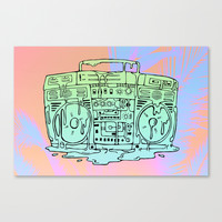 Boombox Canvas Print by Shoooes