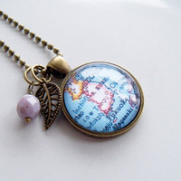 Map of South Korea - Map Pendant Necklace - Custom Jewelry - Travel Necklace - Custom Map Necklace - Adoption Jewelry - Missions - Asia