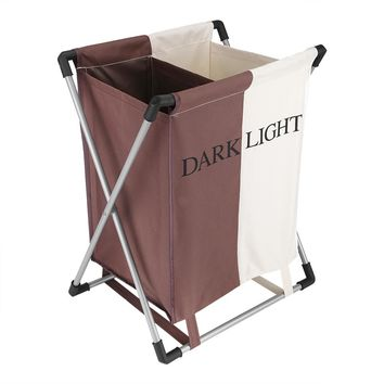 Folding Double Laundry Basket