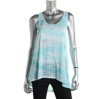 Ideology Womens Burnout Scoop Neck Tank Top