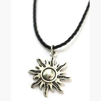 sun shape leather necklace choker free gift tattoo choker  number 1