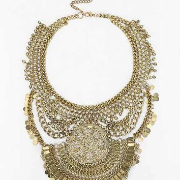Medina Statement Necklace- Gold One