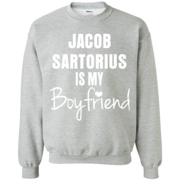 Jacob Sartorius Is my Boyfriend G180 Gildan Crewneck Pullover Sweatshirt  8 oz.