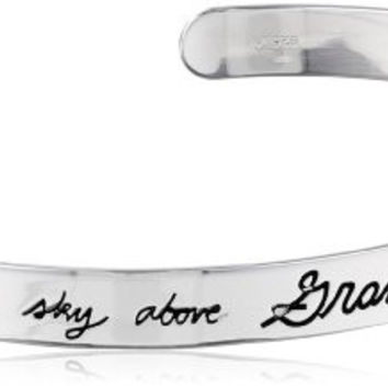 """Sterling Silver """"Grandma Between Earth and Sky Above, Nothing Can Match Your Love"""" Cuff Bracelet"""